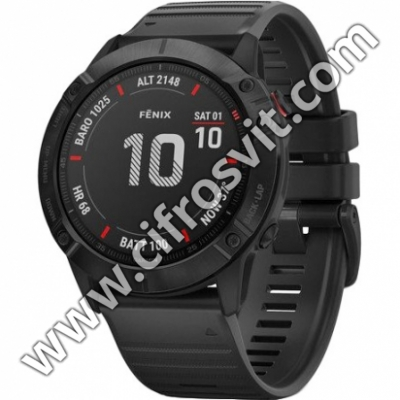 Фото - Умные часы Garmin Fenix 6x Pro Black with Black Band (010-02157-01)