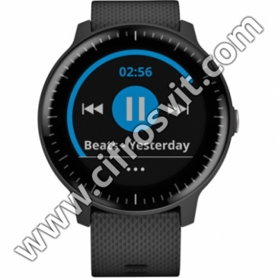 Фото - Умные часы Garmin VIVOACTIVE 3 MUSIC BLACK WITH STAINLESS HARDWARE (010-01985-03)