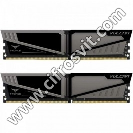 Фото -  Team DDR4 16GB (2x8GB) 3200 MHz T-Force Vulcan Gray (TLGD416G3200HC16CDC01)